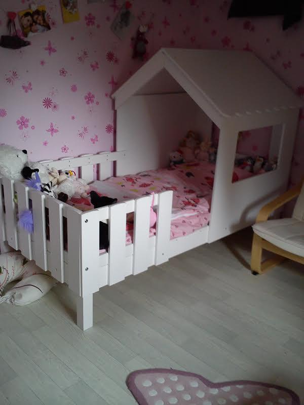 lit enfant cabane swam blanc. Black Bedroom Furniture Sets. Home Design Ideas