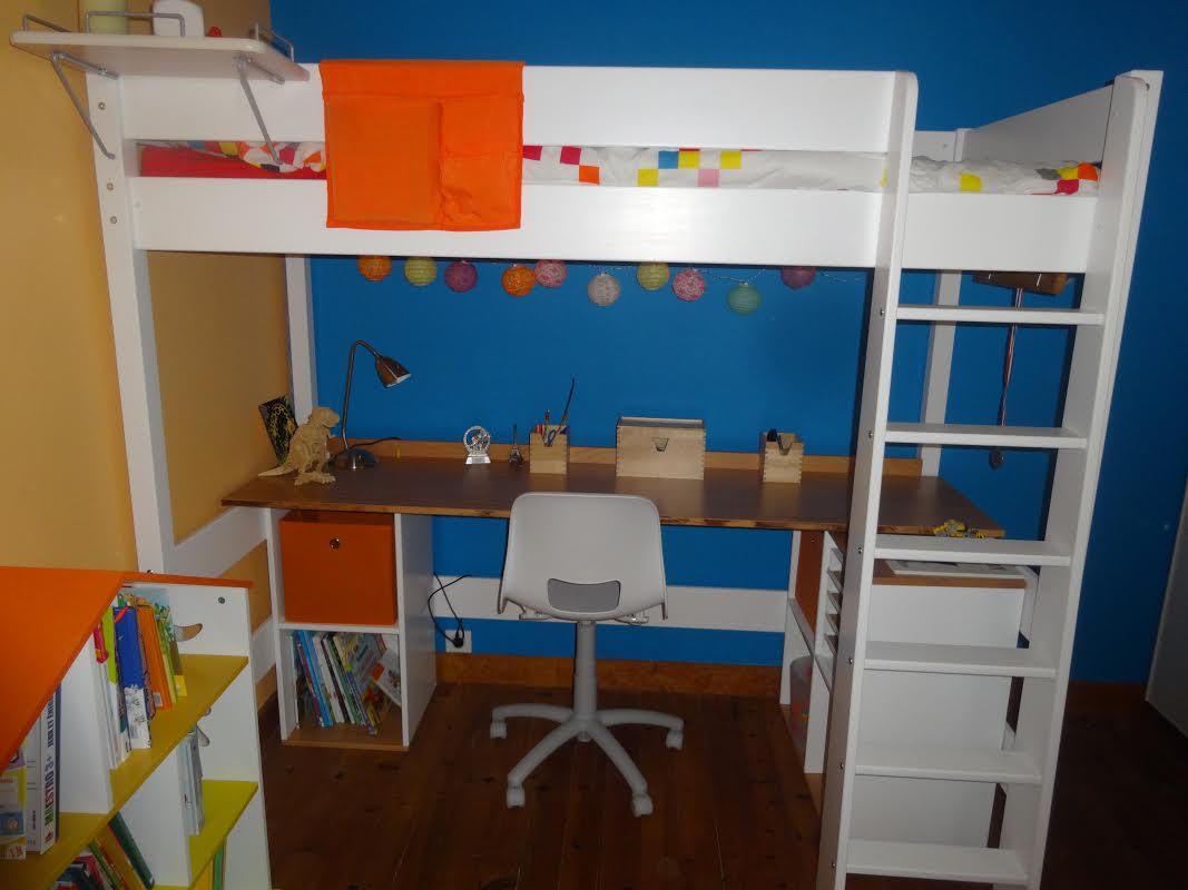 Bureau pour lit mezzanine clay - Lit mezzanine bureau blanc ...