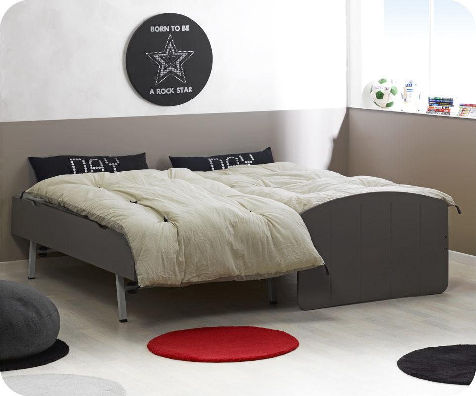 Pack lit enfant gigogne dream 39 in taupe 90x190 cm avec 2 - Lit gigogne couchages ...