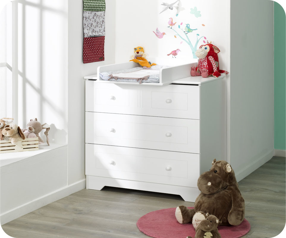 Commode a langer bebe blanche - Plan a langer adaptable toute commode ...