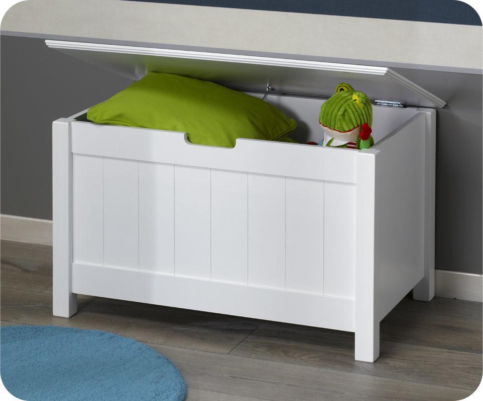 coffre de rangement swam blanc. Black Bedroom Furniture Sets. Home Design Ideas