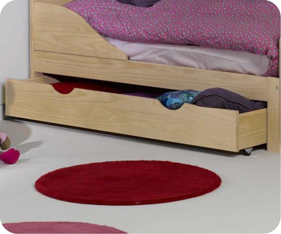 Pack lit enfant volutif ivoo brut avec matelas et tiroir for Machambre d enfant com