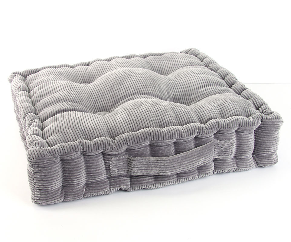 coussin de sol velours gris 40 40 achat vente coussin. Black Bedroom Furniture Sets. Home Design Ideas