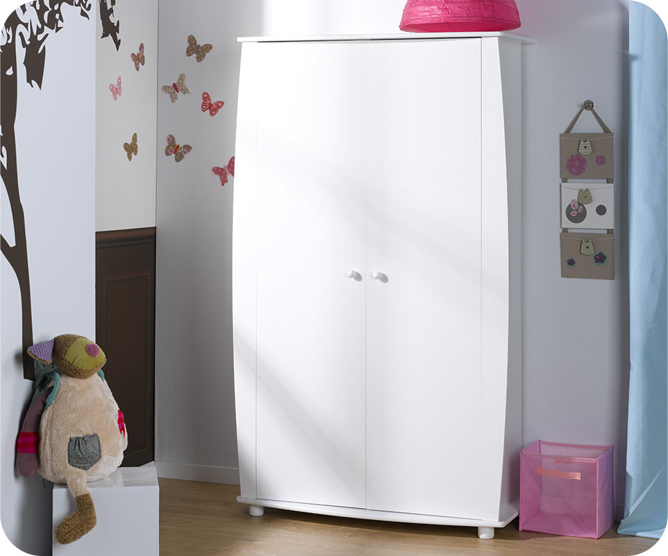 Armoire b b r ve blanche achat vente armoire chambre b b for Armoire bebe blanche