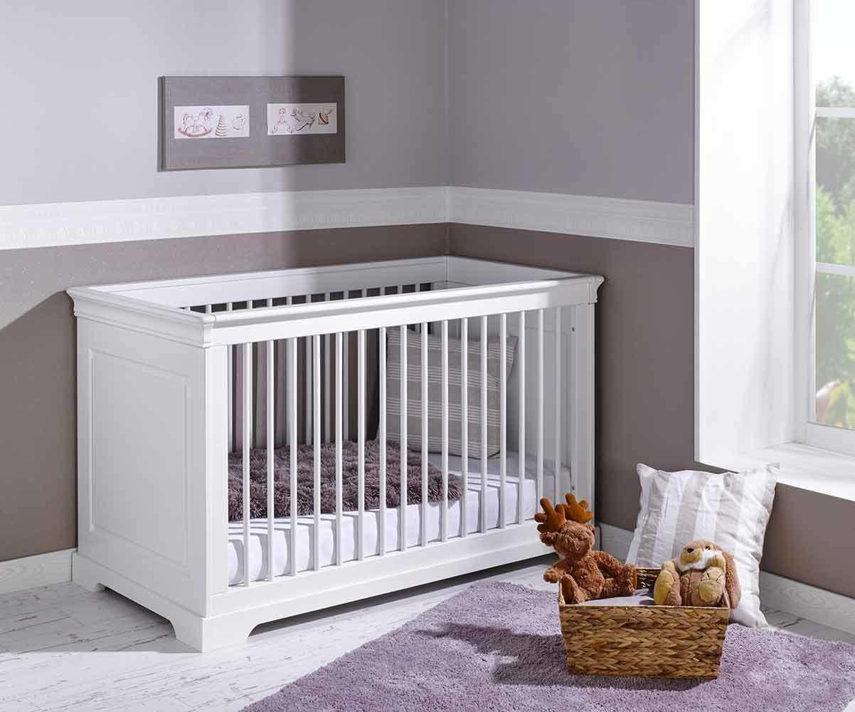 chambre b b compl te mel blanche avec armoire. Black Bedroom Furniture Sets. Home Design Ideas