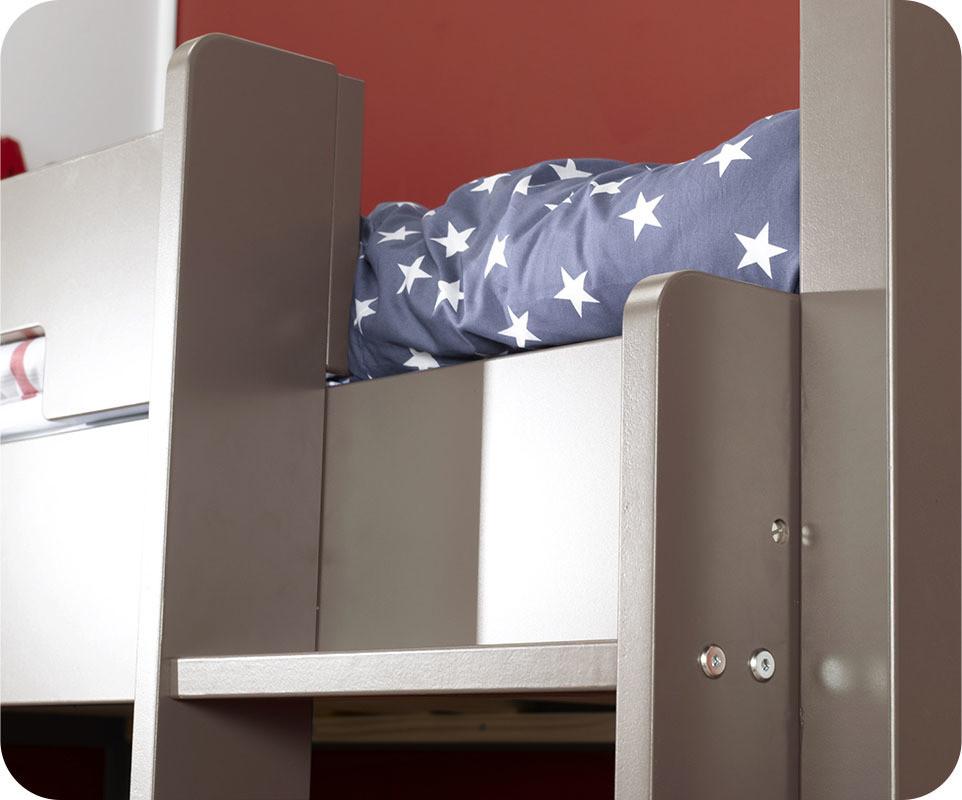 lit superpos bow pour enfant couleur lin 90x190 cm achat vente lit enfant bois. Black Bedroom Furniture Sets. Home Design Ideas
