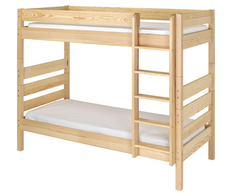 pack lit superpos kids brut peindre 90x190 cm avec 2 matelas. Black Bedroom Furniture Sets. Home Design Ideas