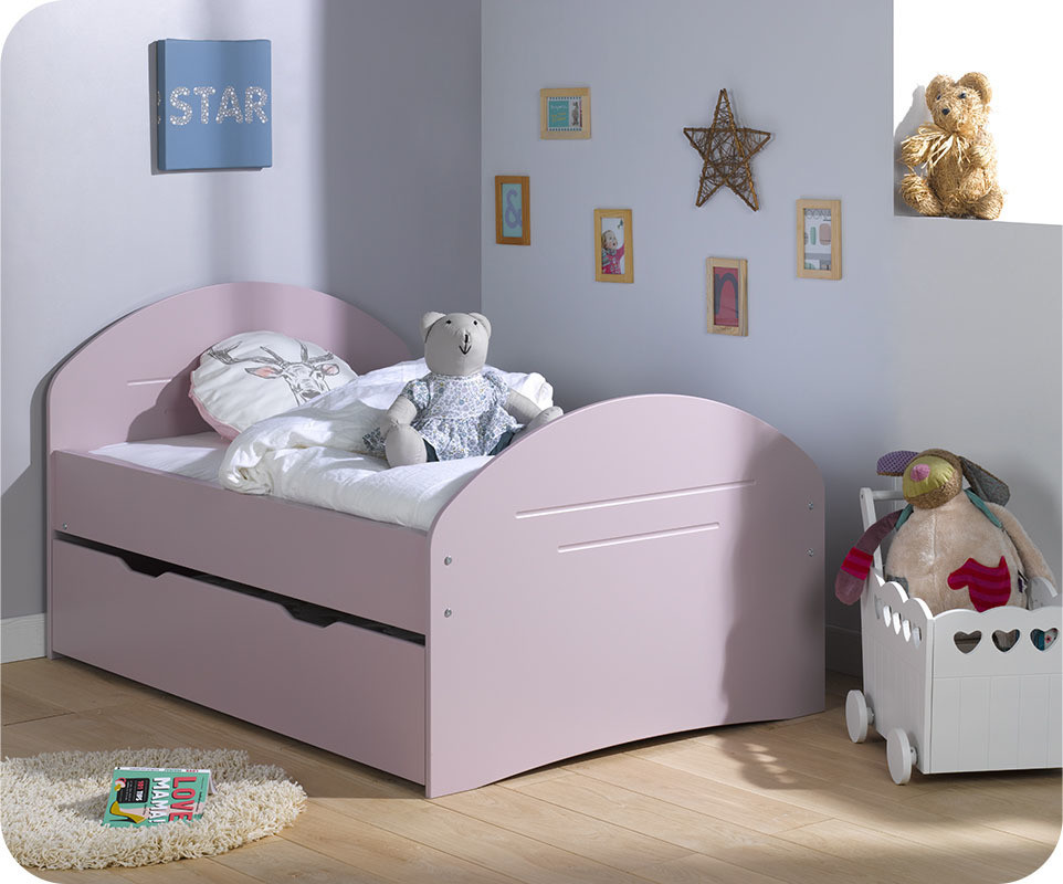 lit enfant volutif spoom vieux rose vente de petits lits enafnts. Black Bedroom Furniture Sets. Home Design Ideas