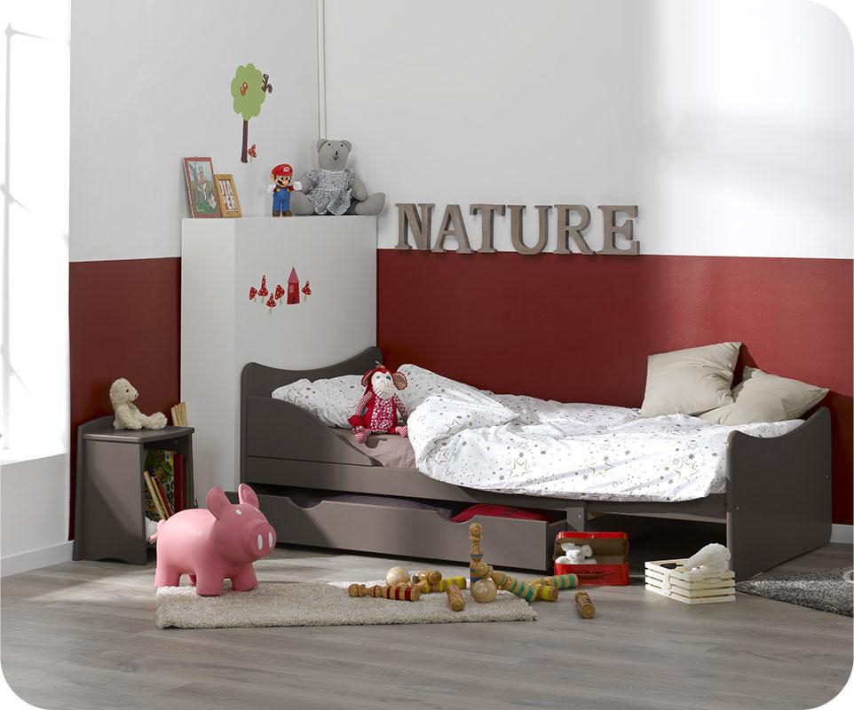 lit enfant volutif ivoo taupe ma chambre d 39 enfant. Black Bedroom Furniture Sets. Home Design Ideas