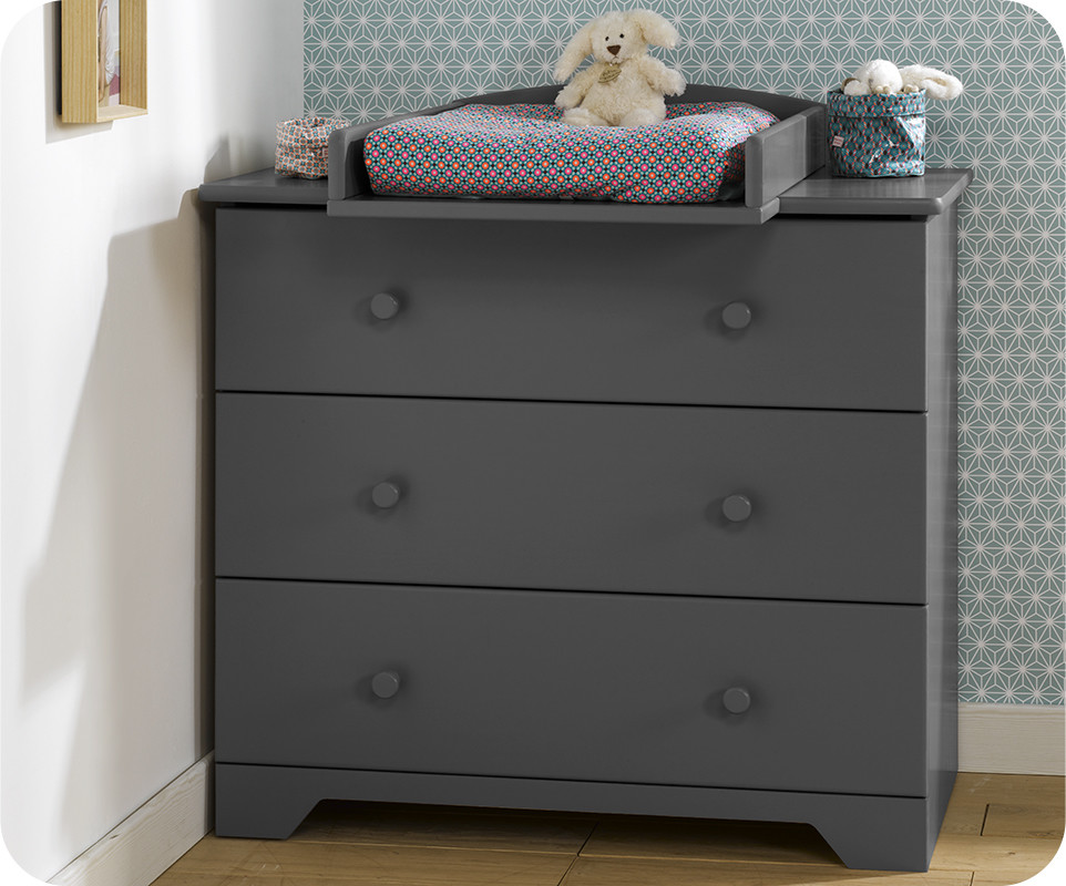 Chambre b b nature gris anthracite achat vente - Commode gris anthracite ...