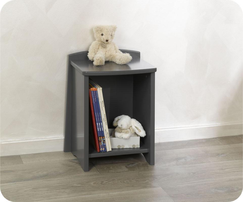 chevet enfant nature gris anthracite mobilier. Black Bedroom Furniture Sets. Home Design Ideas