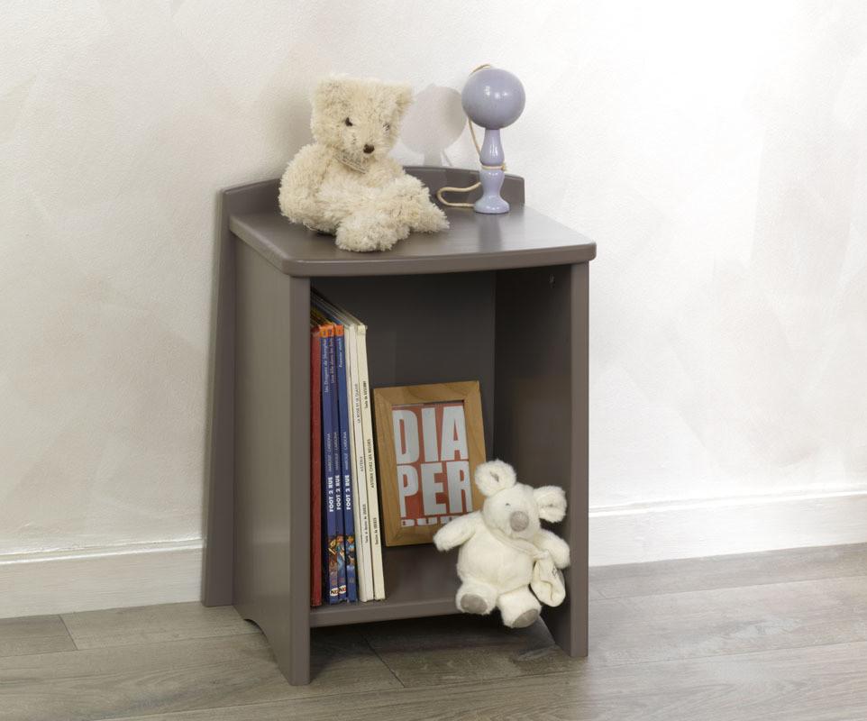 chevet enfant nature taupe mobilier fabrication fran aise. Black Bedroom Furniture Sets. Home Design Ideas