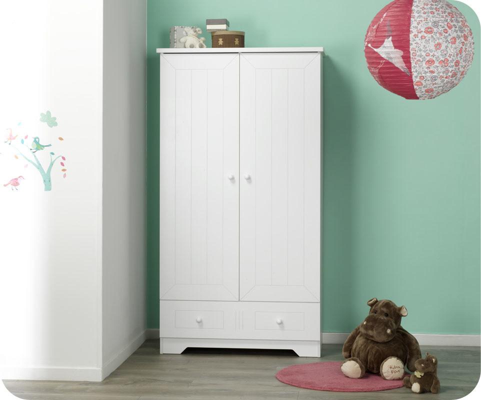 armoire blanche pas cher affordable armoire portes. Black Bedroom Furniture Sets. Home Design Ideas