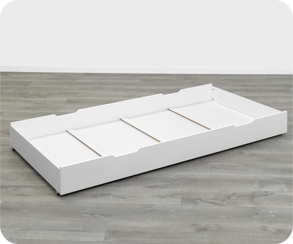 Tiroir lit enfant nuage blanc 90 x 190 cm ma chambre d 39 enfant - Lit enfant blanc tiroir ...