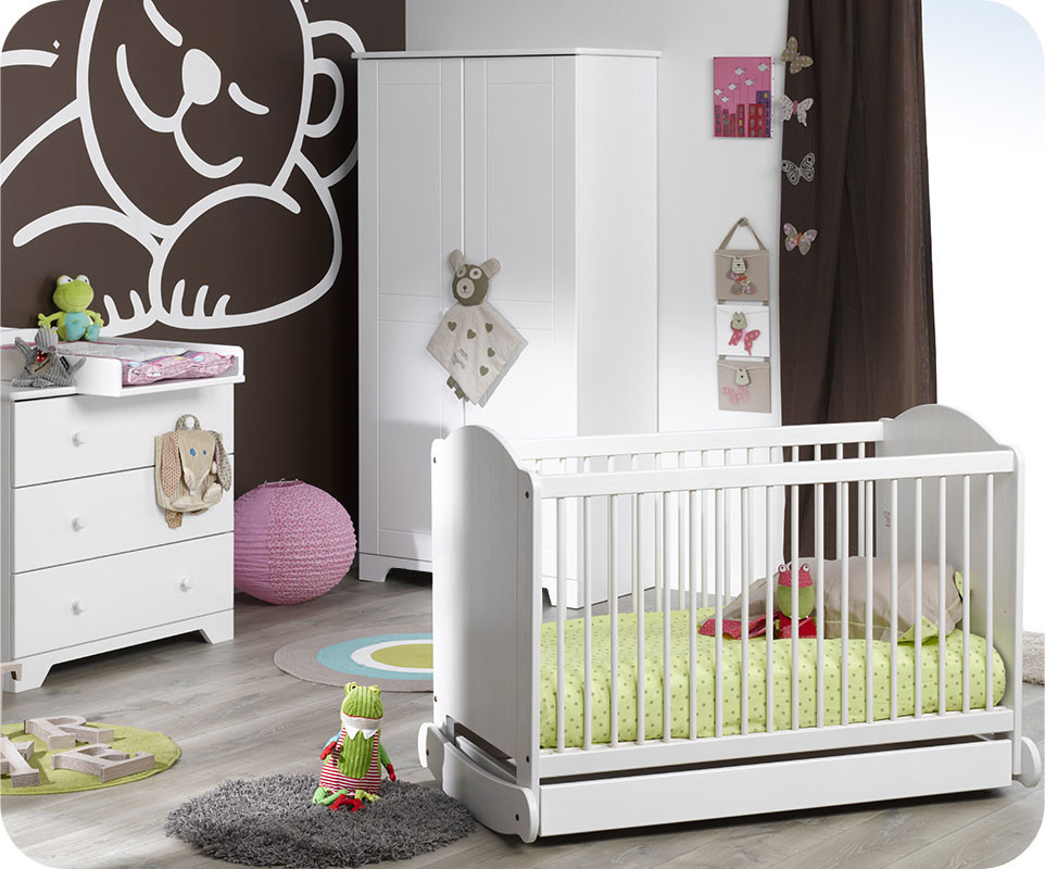 chambre b b compl te nature blanche ma chambre d 39 enfant com. Black Bedroom Furniture Sets. Home Design Ideas