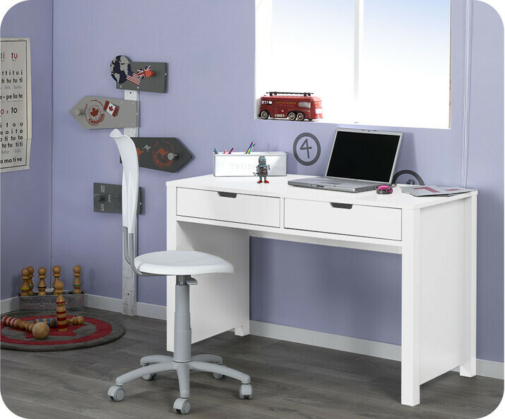 bureau enfant teen blanc achat vente bureau chambre. Black Bedroom Furniture Sets. Home Design Ideas