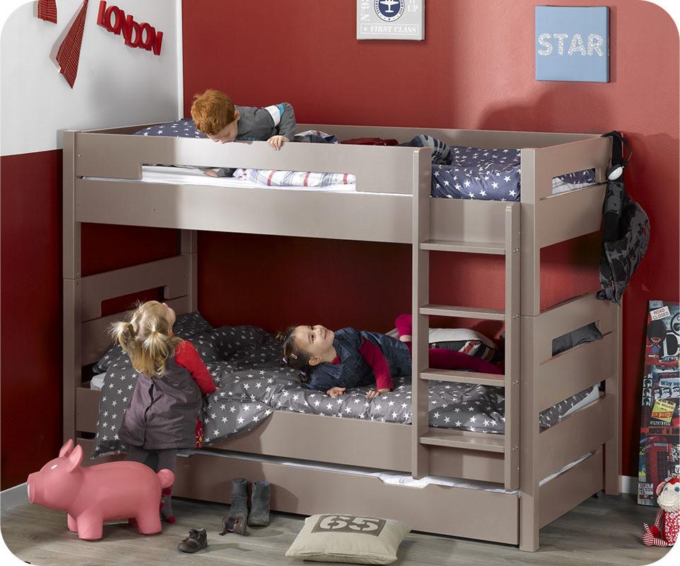Pack lit superpos enfant bow lin 90x190 cm avec 2 matelas for Machambre d enfant com