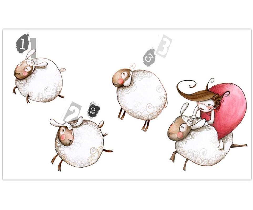 stickers saute mouton 60 x 110 cm achat vente stickers chambre enfant ma chambre d 39 enfant com. Black Bedroom Furniture Sets. Home Design Ideas