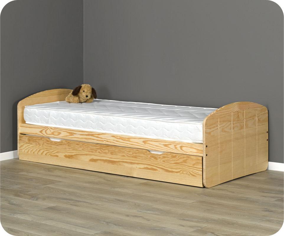 lit bois brut a peindre. Black Bedroom Furniture Sets. Home Design Ideas