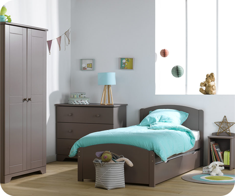 armoire enfant taupe maison design. Black Bedroom Furniture Sets. Home Design Ideas