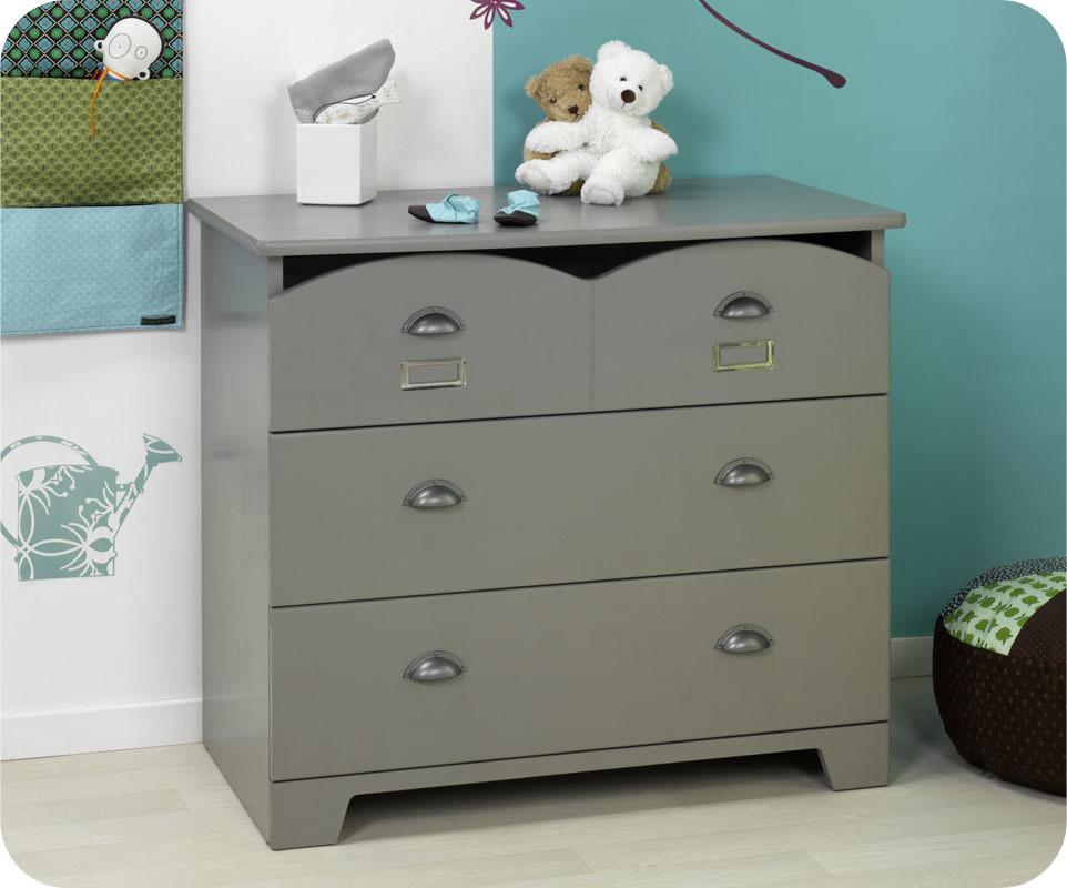 chambre b b compl te avec commode lit et armoire. Black Bedroom Furniture Sets. Home Design Ideas